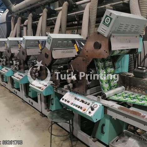 Used Omet MultiFlex 420 LB, color 6 year of 1999 for sale, price ask the owner, at TurkPrinting in Flexo and Label Printing Machines