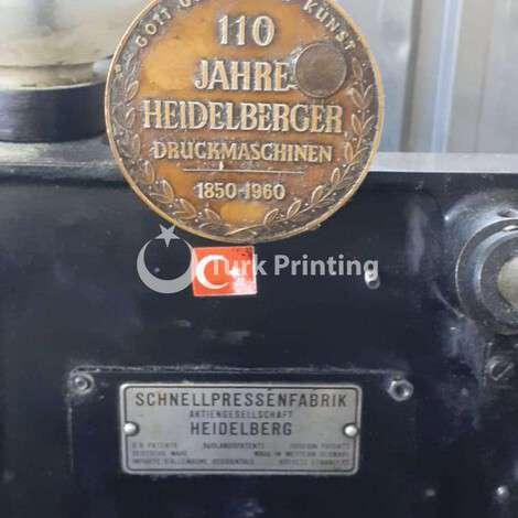 Used Heidelberg 110 TIEGEL TOOL CUTTING MACHINE year of 1960 for sale, price 850 EUR EXW (Ex-Works), at TurkPrinting in Die Cutters