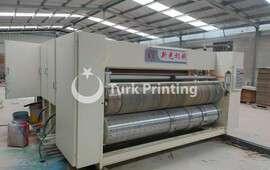 corrugation cardboard chain feeder three colors printer diecutter attached slotter machine