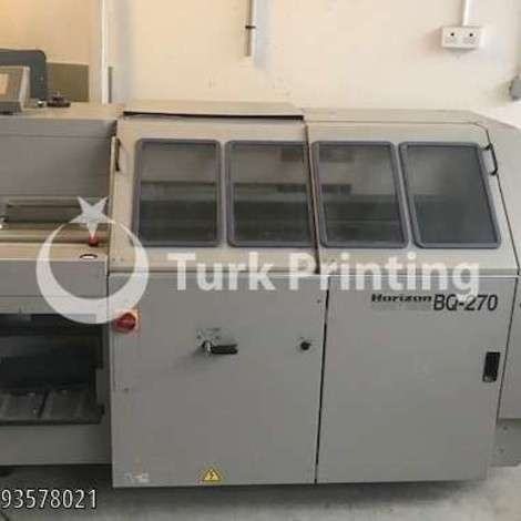 Satılık ikinci el 2003 model Horizon BQ-270 Kapak Takma Makinesi fiyat sorunuz TürkPrinting'de! Kapak Takma Makinaları kategorisinde.