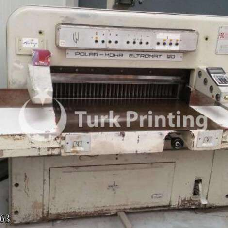 Used Polar 90 cm Paper Cutter year of 2005 for sale, price 46000 TL, at TurkPrinting in Paper Cutters - Guillotines