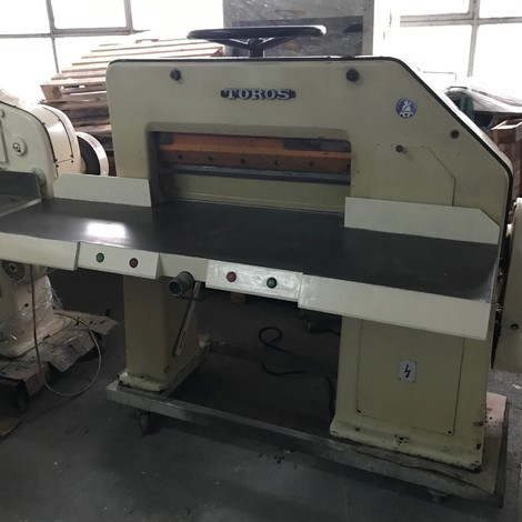 USED TOROS 72CM PAPER CUTTER FOR SALE.