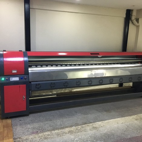 Used Maxima 320 digital printing machines for sale. Konica printheads.