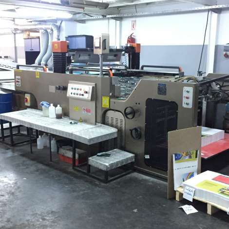 Used full automatic Jinbao screen printing machine for sale.