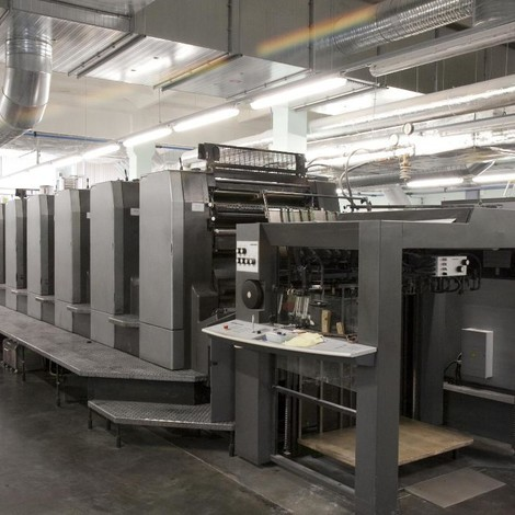 Used very clean Heidelberg Speedmaster CD 102-6+LX six color offset printing machine for sale. Alcolor Dampening Units Autoplate Plate Loading System