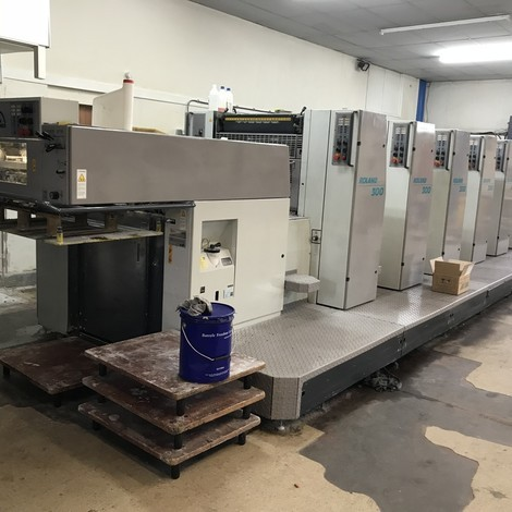 Used ManRoland R306PP offset printing machine For Sale. With CCI (SSD & Flash Memory), QAPC (Quick action plate clamps),