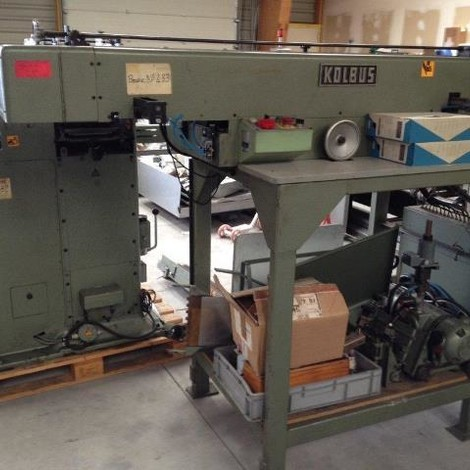 Used Kolbus KE + KEP diary casing machine year of 1984 for sale, price ask the owner, at TurkPrinting in Case-Binding