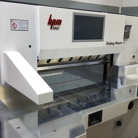 New HPM M15 paper cutter for sale.